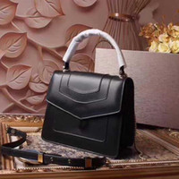 Wholesale black sheep leather for sale - Group buy Womens Bags Handbags Lady Purses Fashion High Quality Sheep Grain Gold Plated Snake Head Button Genuine Leather Crossbody Bag