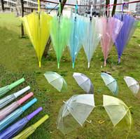 adultes adultes achat en gros de-7 couleurs clair bulle parapluie transparent dôme coupe-vent adultes pluie dôme canopée fourre-tout décoration de fête de mariage parapluies de golf vêtements de pluie A423