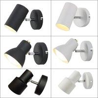 luzes de cabeceira modernas venda por atacado-Modern Minimalista Lâmpada de Cabeceira Lâmpada de Parede Quarto de Hotel Luz Faróis Ajustáveis Espelho de Leitura de Rotação Da Parede Luz Personalidade Vestido