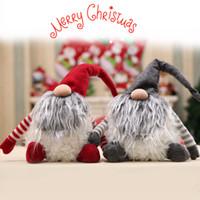 ingrosso bambola presente regalo-Handmade svedese Tomte Christmas Decoration Doll Babbo Natale scandinavo peluche Natale Gnome peluche-regalo di Natale Regalo di compleanno