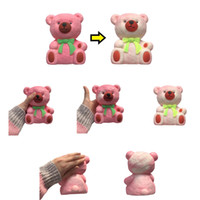 Wholesale bow glasses kid for sale - 13cm g PU Squishy Animal Squishies Penguin Peach Panda Bear Bow Cup Temperature Changes Color Slow Rising Squeeze Decompression Toys