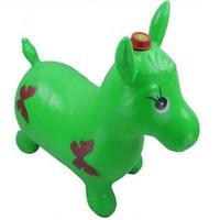 divertidos inflables animales al por mayor-Caballo de la tolva Salto inflable Caballo engrosamiento Espacio Tolva Paseo en Bouncy Animal Sports Toy Juguete divertido al aire libre