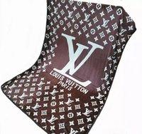 объем продаж оптовых-Горячие продажи высокого качества фланель одеяло весна и лето мода прилив бренд одеяло комфорт кондиционер одеяло диван 150 * 200 см