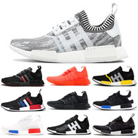 Wholesale tri shoes resale online - Hot Sale R1 Running Shoes for Women Men OG Atmos Japan Solar Red Thunder Tri Color Triple White Black Mens Trainer Sports Sneaker