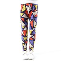 pantolon pantolonu toptan satış-Kızlar Tayt Benekli Çiçek Renk Nefes Bebek Pantolon Orta Rise Rubber Band Anti Sivrisinek Tatlı Çocuk Tayt Pantolon 45