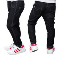 ingrosso collant blu bambino-Pantaloni jeans per bambini pantaloni per bambini Blue Black Legging Neonate Neonati maschi Pantaloni per bambini Pantaloni per bambini