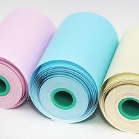 weißes druckerpapier großhandel-58mm 10 Jahre Aufkleber Etikett Quittung Farbe Thermopapier Weiß Bunt Peripage A6 A8 Paperang P1 P2 Mini Pocket Photo Printer