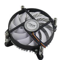 ordinateur intel core i5 achat en gros de-ventilateur de bureau d'ordinateur 4pin PWM Cpu radiateur Ventilateur de refroidissement à température contrôlée pour intel LGA 1155 / LGA 1156 / LGA 115X CORE I3 I5