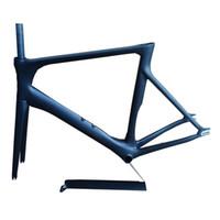 bicicleta de carretera bicicleta engranaje fijo al por mayor-EARRELL Nuevo modelo de cuadros de bicicleta de carbono Aero Track, 700C Fixed Gear Track Road Carbon Bike Frames Track Carbon Frames BB86