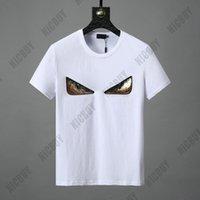 paillettes à la broderie 3d achat en gros de-2019 Designer Marque Hommes Tshirt luxe Mode Printemps Eté Italie Europe Europe 3D Paillettes De Broderie Yeux Imprimer Casual T-shirt Tee Top T-shirt