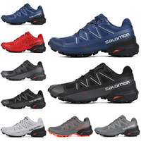 sport mens impermeável venda por atacado-Salomon Speedcross 5 Homens CS Running Shoes Preto Branco Cinza Azul Vermelho Mens Formadores Tênis Esportivos À Prova D 'Água Esportes 7-11.5