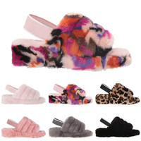 Wholesale booties sandal shoes for sale - Group buy 2020 furry slippers fluff yeah slide Australia Fashion Luxury Designer women winter sandal Casual Shoes Boots furry mirabelle pantoufle