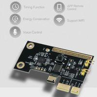 wifi pci e toptan satış-eWeLink Mini PCI-e Masaüstü PC Uzaktan Kumanda Anahtarı Kartı WiFi Kablosuz Akıllı Anahtar Röle Modülü Kablosuz Yeniden