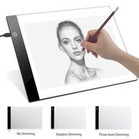 Wholesale led drawing board for sale - Group buy Digital Graphic Tablet A4 LED Artist Thin Art Stencil Drawing Board Light Box Tracing Writing Portable Electronic Tablet Pad