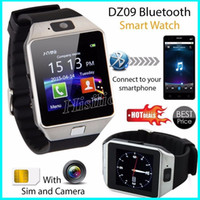 Wholesale waterproof wrist mobile phone for sale – best DZ09 Smart Watch Wristband Support SIM Intelligent mobile phone TF Card Camera Anti lost Sleep State Smart watch Retail Package
