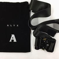 ingrosso buttons-cintura ALYX nera 128cm Rollercoaster Bottone in metallo canvas Smooth Hip hop street wear cintura di sicurezza