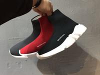 sapatos de inicialização para casual venda por atacado-2019 ACE Designer casual meias sapatos de marca de velocidade Trainer preto vermelho triplo preto moda meias botas Sneaker Trainer sapatos 36-45 A20