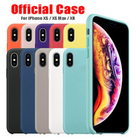 Wholesale customized logo case online - Official logo official style silicone case for Iphone XS MAX XR X Luxury soft silicone case For iphone Plus Plus