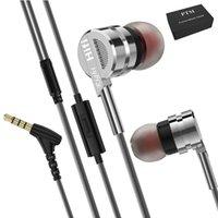 tapones para los oídos al por mayor-PTM M6 3.5mm Auriculares con Cable En la Oreja Auricular de Metal Línea de Control de Auriculares de Trigo Auriculares Auriculares Super Bass Con Micrófono