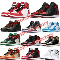 ingrosso scarpe da basket lo sport azzurro-Nike air jordan 1 shoes Basketball Shoes Alta Olimpiadi Travis Scotts pallacanestro Spiderman UNC Designer Mens Homage To Home Royal Blu Uomini Sport Sneakers Trainers
