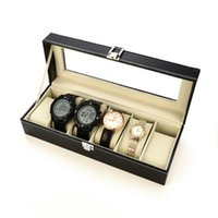 Wholesale clock cases resale online - 3 Watch Boxes Professional Holder Organizer for Clock Watches Jewelry Boxes Case Display Watches Gift