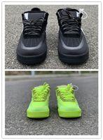 ingrosso cime di colore giallo-Nuovi giallo limone Low Black uomo scarpe da corsa allenamento sportivo Moda outdoor outdoor di alta qualità con box best size 7-12