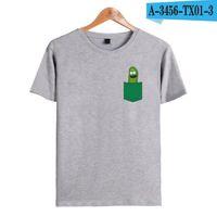 anime xxs großhandel-Tupfen Pickle Rick Männer T-Shirt Rick und Morty Anime T-Shirts Männer Kurzarm O-Ausschnitt Ricky Morty Lustiges T-Shirt T-Shirts Homme XXS - 4XL