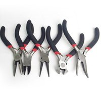 Wholesale mini wire cutters for sale - Group buy 5pcs Mini DIY Jewelry Making Pliers Set Carbon Steel PVC Beading Wire Wrapping Round Long Bent Mini Plier Cutter Tool Kit