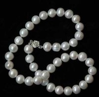 Wholesale green fresh water pearl for sale - Real Hot Fresh Water mm White Pearl Necklace quot