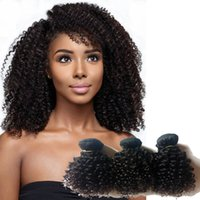 Wholesale price mongolian hair weave for sale - Group buy Brazilian Virgin Hair weaves inch Kinky Curly hair Good quality Indian Mongolian remy Human Hair weft Factory Price