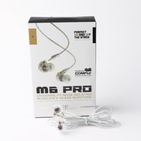 Wholesale mixed packages for sale - Group buy M6 PRO Wired In Ear HIFI Earphones Noise Cancelling Headsets Handsfree Headphones with Retail Package LOGO Black and White