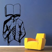 Wholesale walk stickers resale online - Walking Dictionary Vinyl Wall Decal For Library Book Lover Store Wall Stickers Nodic Classroom Decoration Waterproof Art