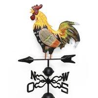arte de galo venda por atacado-Direção colorido Decor Fácil Use Retro Quintal Cata-vento Spinner Professional vento do galo de Artesanato Estrutura Ferro Durable