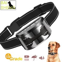 Wholesale rechargeable dog bark collars resale online - 4 in Dog Trainer Ultrasonic Bark Collar LED Instruction Rechargeable Waterproof Smart Pet Products