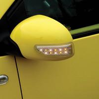 ingrosso specchietti di vetro portati-2PCS Universal Car Auto Retrovisore Luce 13 LED Door Lamp Turn Signals Lampade DC12V Cornering Lamp Car Decorative Light