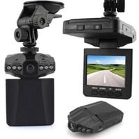 geniş açılı çizgi kamerası toptan satış-HD Araba Kamera Kaydedici 6 LED DVR Yol Çizgi Video Kamera LCD 270 Derece Geniş Açı Hareket Algılama araba dvr Uçak Kafası Ücretsiz Nakliye