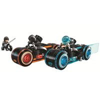 Wholesale motor bike plastics resale online - 10881 Ideas Series TRON Light Cycles Racing Motor Bike Lightstream Building Blocks Toys Gift For Children