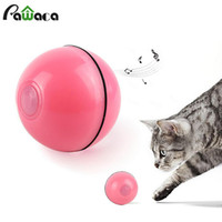 Wholesale interactive smart toy resale online - Cat Toys Smart Interactive Automatic Rolling Ball Active Jump Rotating Ball USB Electric Intelligent avoidance obstacle Pet Toy