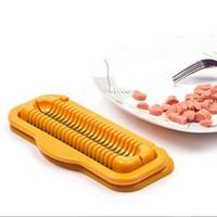 muz dilimleyici kesici toptan satış-Sıcak Köpek Kesici Sosis Soyucu Jambon Dilimleme Hot Dog Muz Kesici Salata Aracı Mutfak Pişirme Araçları RRA355
