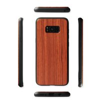 Wholesale mobile back rubber cover for sale – best Top Quality Natural Wood Case Mobile Phone Wooden Bamboo Soft Rubber TPU Back Cover For Samsung Galaxy S8 S9 Plus Note S10 S10 lite