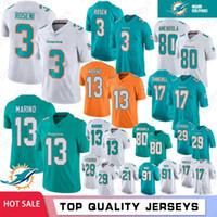 m delfines al por mayor-3 Josh Rosen Miami Dolphin jerseys 17 Ryan Tannehill 29 Minkah Fitzpatrick 13 Dan Marino 80 Danny Amendola 91 Cameron Wake 21 Gore