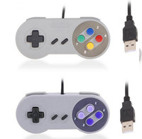 Wholesale gamepad controller tablet for sale - Group buy HOTsnes Classic USB Controller PC Controllers Gamepad Joypad Joystick Replacement for Super Nintendo SF for SNES NES Tablet PC LaWindows MAC
