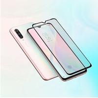 xiaomi beschützer großhandel-Xiaomi CC9 CC9e redmi 7 7A Note7 Note 7Pro 7S 2.5D Displayschutzfolie aus gehärtetem Glas mit schwarzem Seidendruck und Kleinpaket xiaomi 9 9SE
