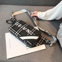 проверить стиль сумки оптовых-Фабрика Оптовая Марка женщины сумочка западный стиль проверить грудь сумка корейский спортивный досуг плюшевые ткани талии сумка личность зима messenge