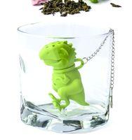 filtro infusor de cucharadita al por mayor-Bolsas de té Coladores Silicona Cucharilla Filtro Infusor Gel de sílice Filtración Silicona de hojas sueltas Infusor Filt