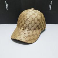 ingrosso cappelli cachi per le donne-Nuovi berretti da baseball da uomo e da donna di lusso del designer 2019 oro ricamato osso da uomo e da donna cappelli da sole kaki golas sport caps shi