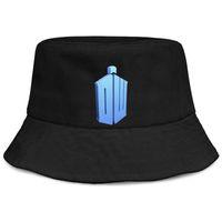 ingrosso cappelli di benna dell'annata-Doctor who vintage black women fisherman bucket sun hat design sports Carino moda personalizzata secchio suncap