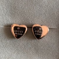 anneaux d'or pour les filles achat en gros de-Top marque 316L en acier inoxydable coeur 3D oreille anneau bijoux de mode brillant 3 couleur or rose argent boucles d'oreilles pour hommes femmes garçons filles cadeau
