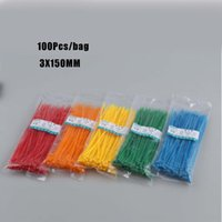 Wholesale nylon cable zip wire resale online - 100Qty X150MM Self Locking Cable Zip Ties cable ties White BlACK Red Blue Yellow Nylon Wire color