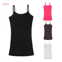 Wholesale polyester elastic straps resale online - Spaghetti Strap Vest Women Top Summer Elastic Slim Sleeveless Casual Candy Camis Color Tank Tops Sleeveless Shirts